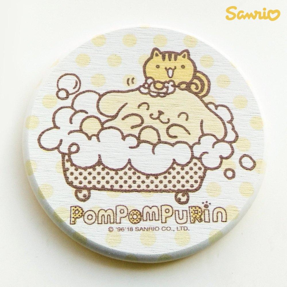 【買一送一】三麗鷗獨家授權 Sanrio 珪藻土吸水杯墊 布丁狗 Pom Pom Purin 3