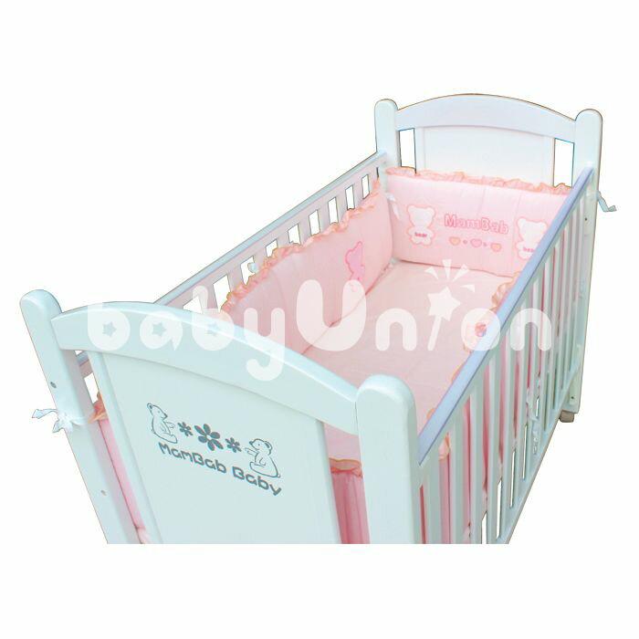 Mam Bab夢貝比 - 貝比熊純棉嬰兒床加高單護圈 -L (68x120cm大床適用) 2