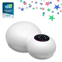 ZAQ Sky Aroma Essential Oil Kids Diffuser LiteMist Ultrasonic Aromatherapy Humidifier - Starry Sky Projection (White)