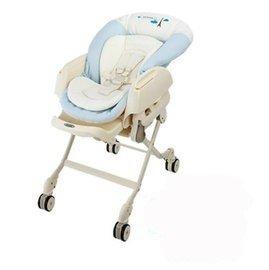 *babygo*【7-8月活動 】康貝 Combi Letto電動安撫餐椅搖床ST款-藍色巴黎81280