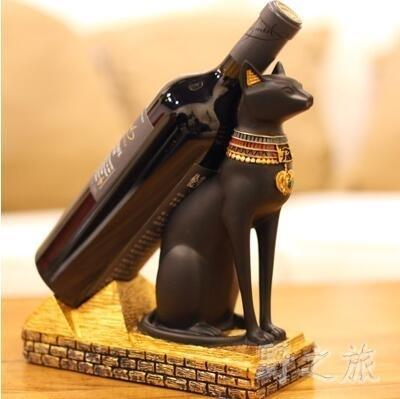 古埃及貓神獅身人面像創意樹脂紅酒架xx6401【野之旅】TW