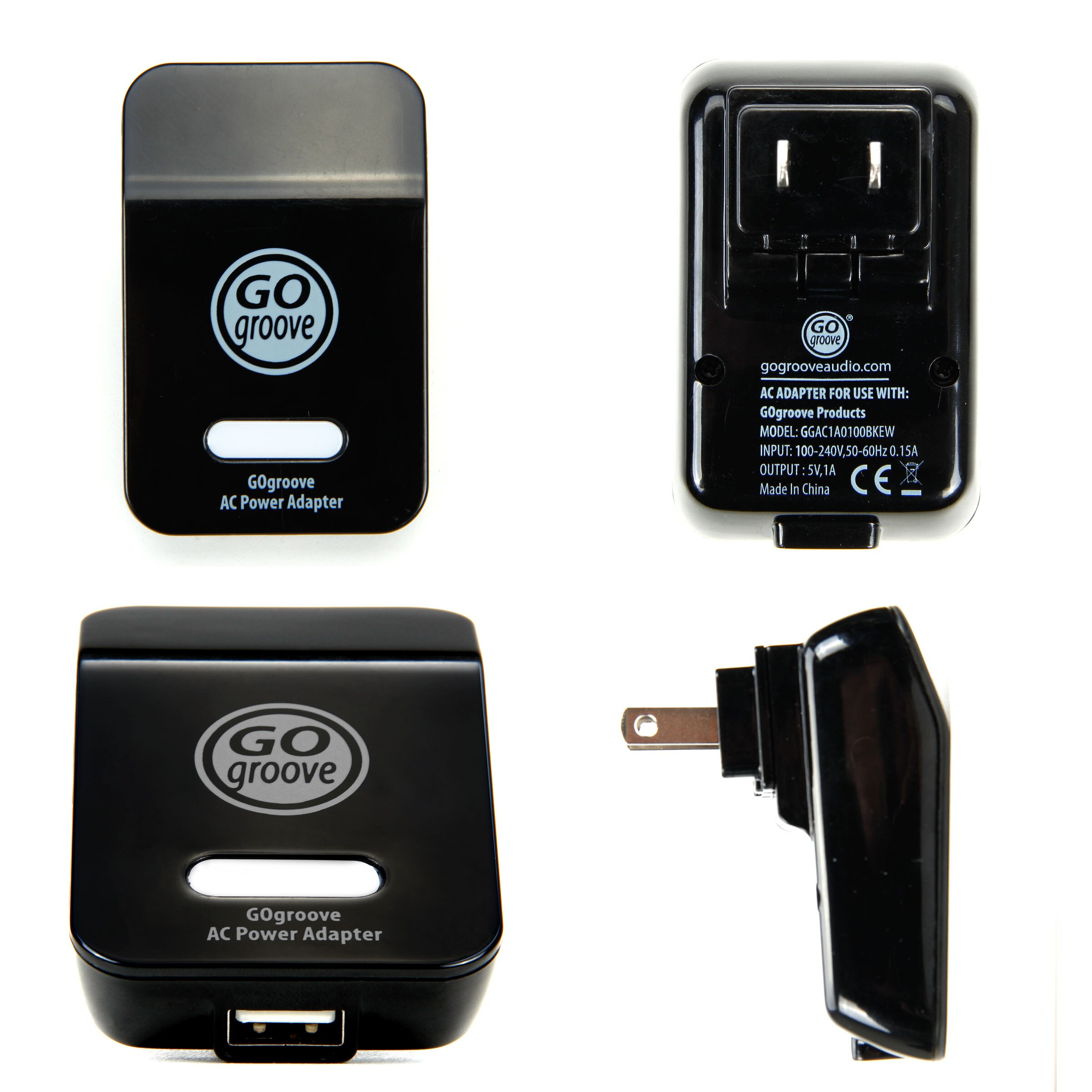 Universal USB Power Adapter Plug by GOgroove for many USB powered Portable Bluetooth Speakers 3