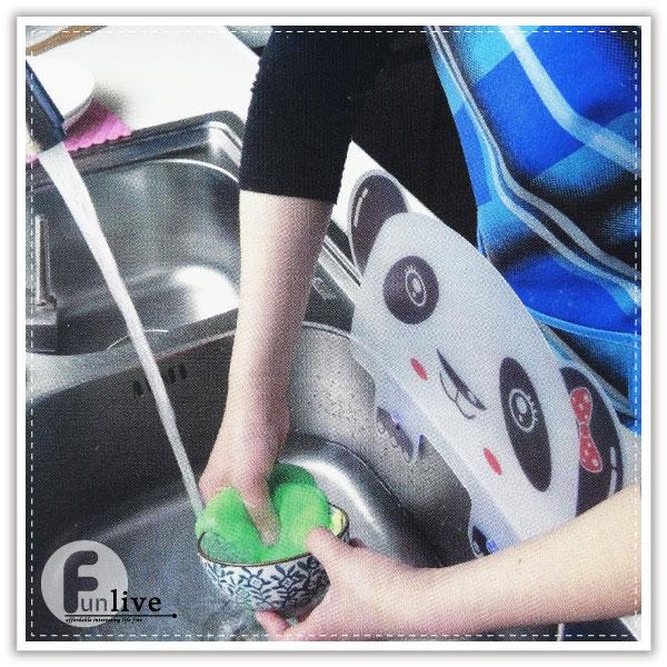 【aife life】動物造型防濺檔版/貓熊擋板/洗碗槽防濺/擋水板/吸盤擋水板/防水板/防油板/隔水板/廚房用品/洗碗