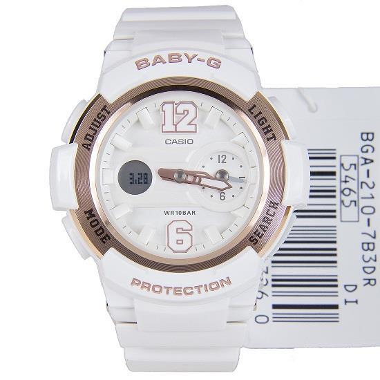 國外代購 CASIO BABY-G BGA-210-7B3DR少女時代城市簽名限定版 女錶 腕表 情侶錶 白玫瑰金