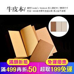 空白牛皮紙 適用 Traveler's Notebook 旅人筆記本 標準尺寸(84-0002)