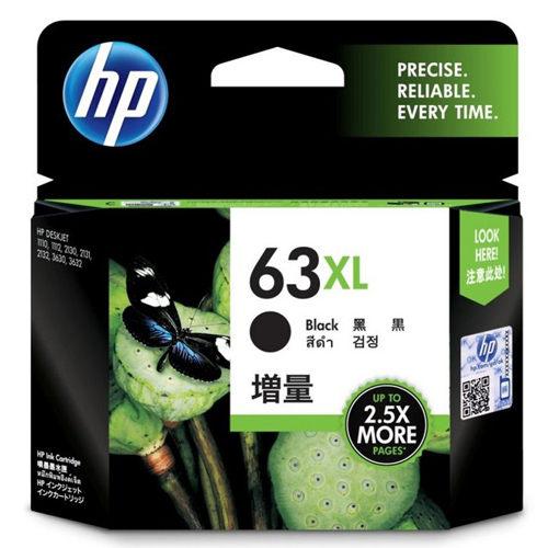 【HP 墨水匣】F6U64AA (63XL) 黑色原廠高容量墨水匣
