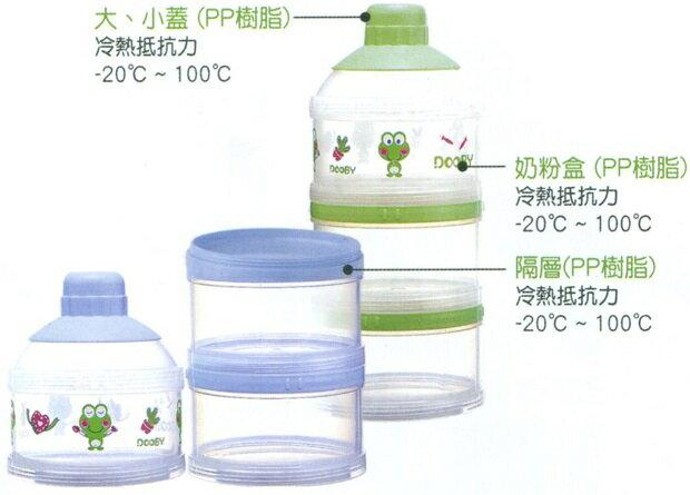 大眼蛙 防汙加大奶粉盒 綠/粉D-5011
