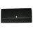 COACH 52575黑灰織布logo輕便長夾 0