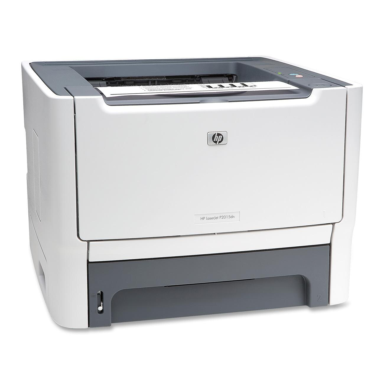 HP LaserJet P2000 P2015DN Laser Printer - Monochrome - 1200 x 1200 dpi Print - Plain Paper Print - Desktop - 27 ppm Mono Print - Custom Size, Letter, Legal, Executive, Index Card, Envelope No. 10, Monarch Envelope - 300 sheets Standard Input Capacity - 15 0