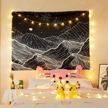 背景布 ins風掛布宿舍網紅背景房間掛毯布藝床頭佈置牆面裝飾牆布150*30cm B系列