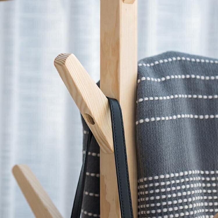 創意多功能衣帽架 簡易組裝架子臥室掛衣架 客廳收納整理架【99購物節】