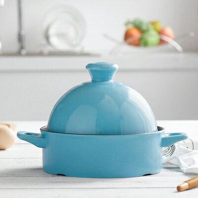 蒸鍋 塔吉鍋耐高溫沙鍋日本陶瓷砂鍋耐熱燉鍋家用平底蒸鍋煲仔飯燜燒鍋