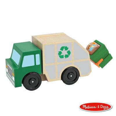 美國瑪莉莎Melissa&Doug木製垃圾車【寶貝樂園】