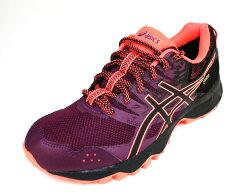 23cm~ASICS 亞瑟士GEL-SONOMA 3 女 防水GORE-TEX-輕量 越野 慢跑鞋 T777N-3290(紫/橘紅)[陽光樂活]
