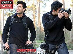 又敗家@美國Carryspeed減壓相機背帶Double Pro MK II雙肩揹帶雙槍運動揹帶(New Type台灣限定版,台灣總代理立福公司貨)單眼相機減壓背帶減壓相機背帶Carry Speed,同BLACKRAPID快槍俠DR-2雙肩相機背帶兩塊FS快拆板雙機背帶雙機揹帶雙機相機背帶