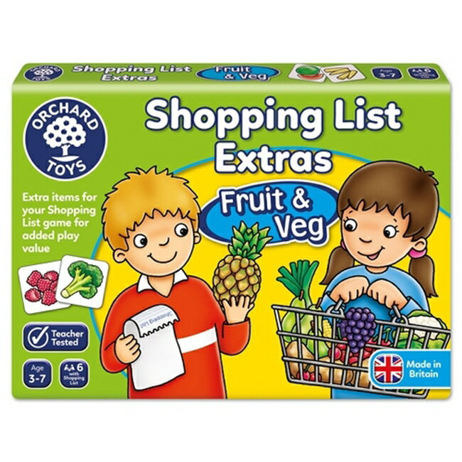 【英國 Orchard Toys】桌遊-蔬果採買趣 Shopping List Extras- Fruit & Veg OT-090