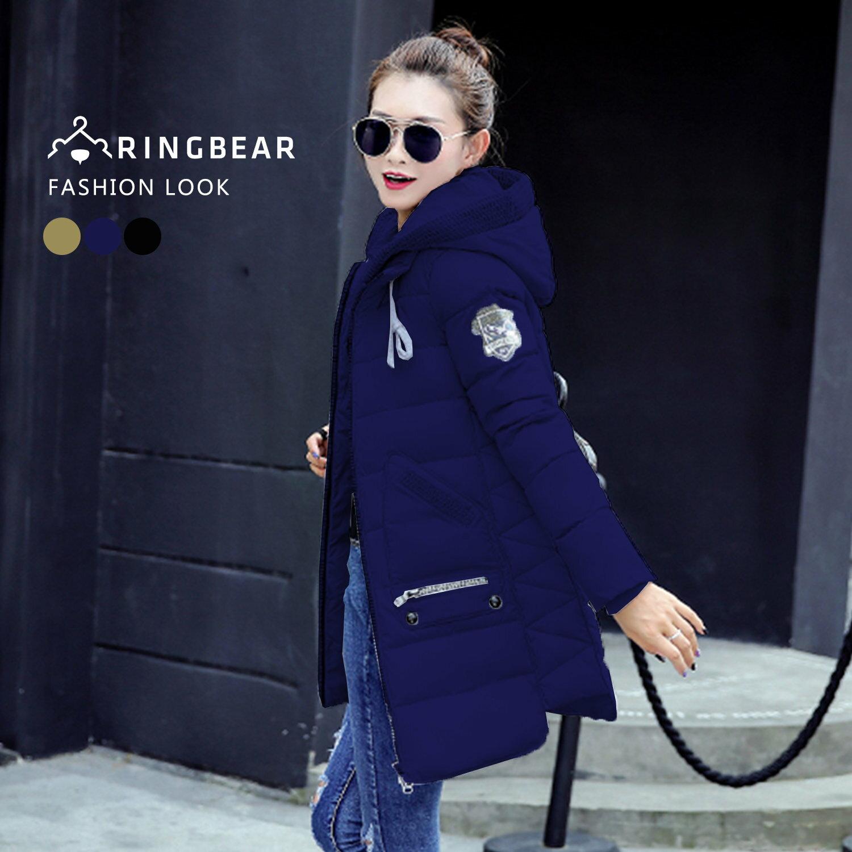 保暖--帥氣有型抽繩連帽羅紋縮口袖顯瘦版型羽絨棉外套(黑.藍.綠XL-3L)-J317眼圈熊中大尺碼 2