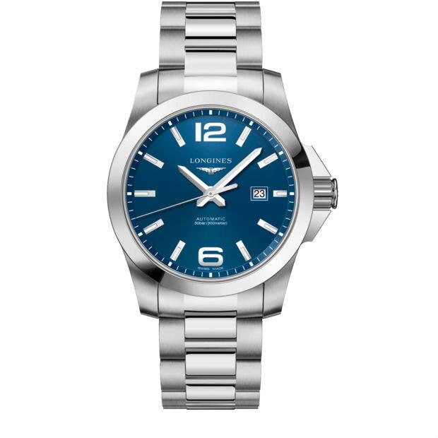 LONGINES 浪琴 L37784966潛水型經典征服者機械腕錶/藍面43mm
