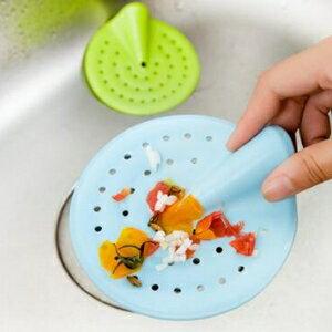 美麗大街【BF287E19】廚房彎曲可提地漏蓋水槽防堵塞過濾網排水口毛髮過濾器(小號)