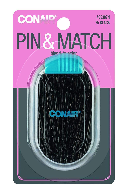 Conair Conair BALL TIPPED Black 75.00 Ct Bobbypin Case 2.20 Oz