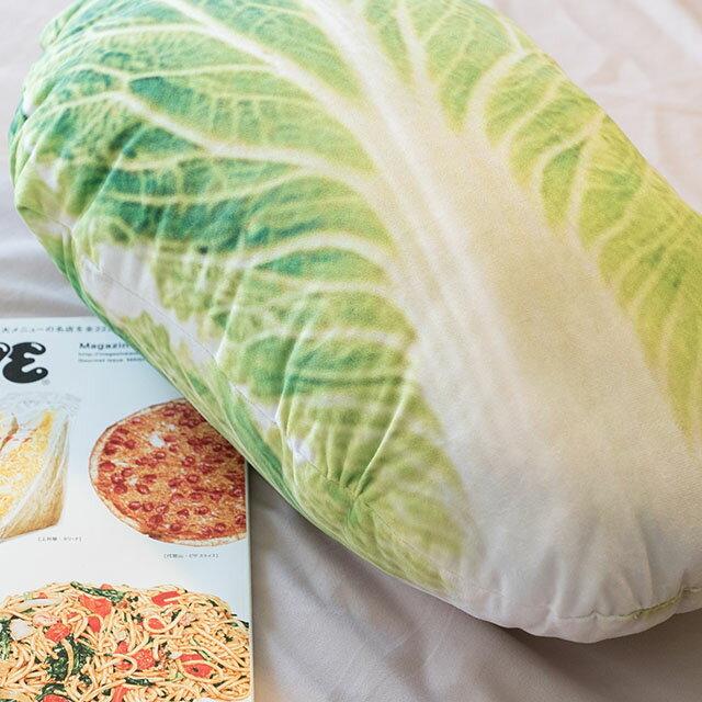 日雜風格 小白菜抱枕 花色獨特 觸感扎實 2