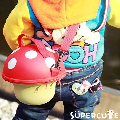 Supercute 蘑菇手提包^(四色^)~蘋果日報