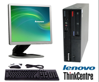 Lenovo ThinkCentre M57e SFF C2D 4GB 250GB Win7 Pro with 17 inch monitor keyboard and mouse