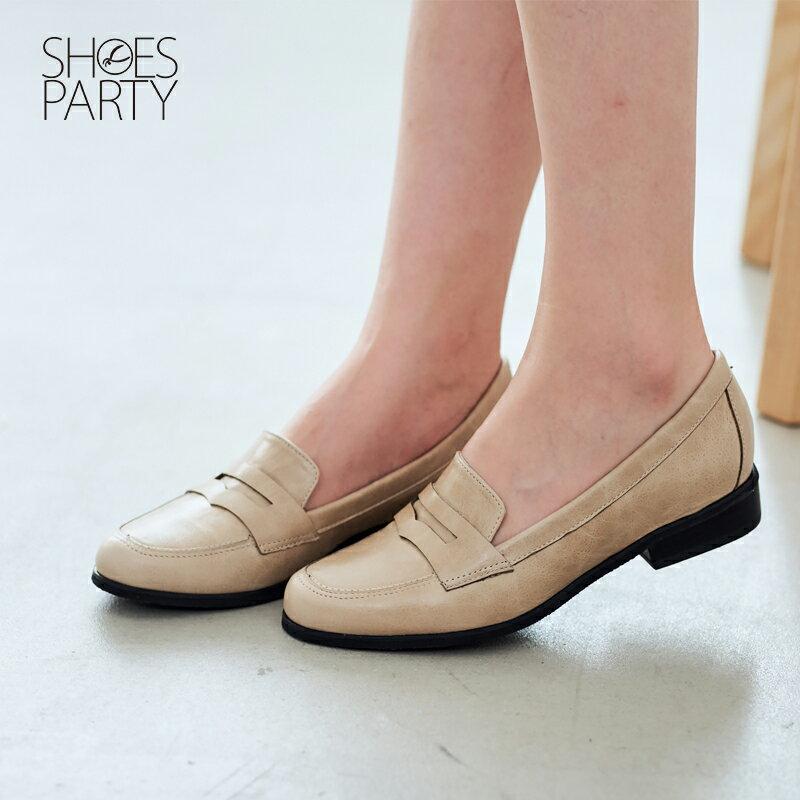 【 P2-17120L 】經典真皮樂福鞋_Shoes Party 3