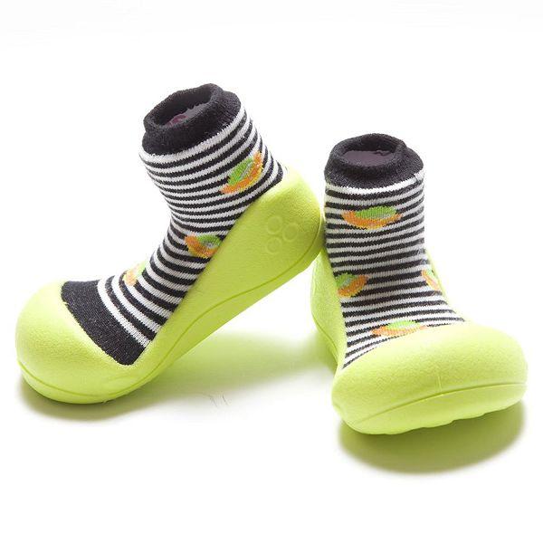 韓國 Attipas 快樂腳襪型學步鞋- 綠底飛碟
