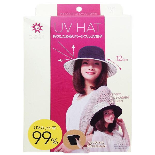 日本雙面 花漾抗UV防曬遮陽帽-紅點紋