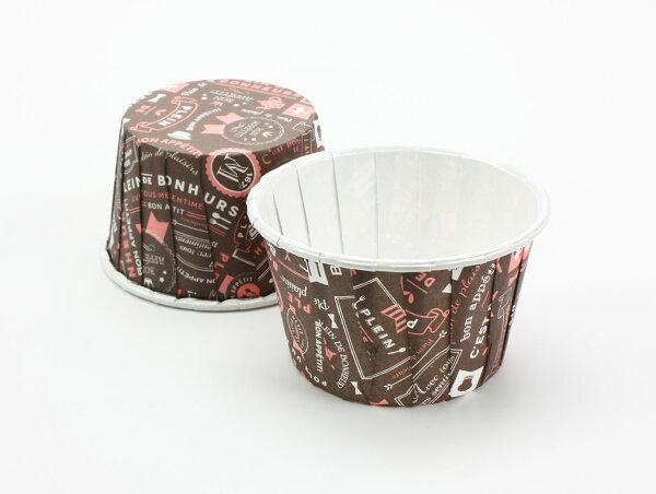 佰勳烘焙包裝材料:瑪芬杯、捲口杯、蛋糕紙杯、紙杯托、杯子蛋糕、百摺杯、堅口杯、烤箱用紙杯、耐高溫紙杯PET5039幸福甜點(100pcs包)