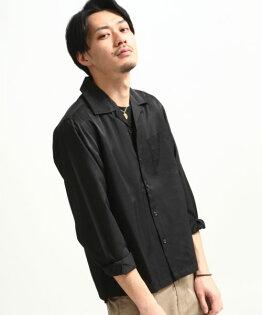 府綢開領襯衫BLACK