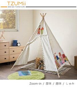 TZUMii:遊戲帳篷室內帳篷遊戲屋TZUMii歐式童話城堡帳篷(4桿)