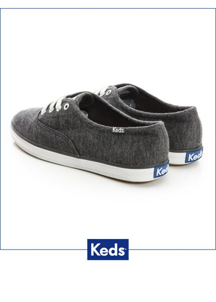 Keds 復古運動綁帶休閒鞋-深灰(限量) 套入式│懶人鞋│平底鞋│綁帶 3