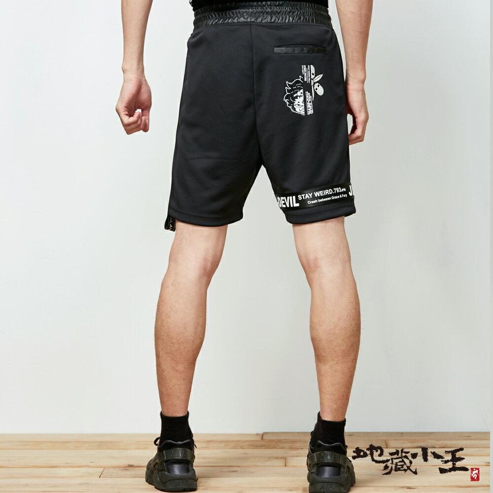 【春夏新品】潮流織帶運動風格短褲(黑) - BLUE WAY 地藏小王 1