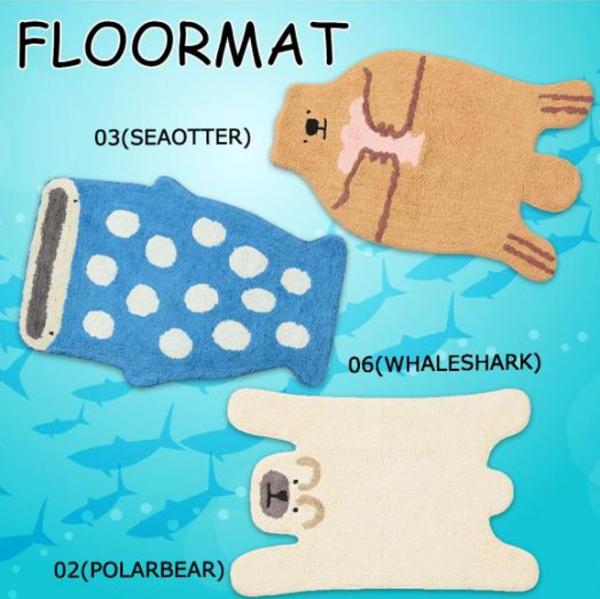 AQUA超可愛海洋動物地毯(日本進口)