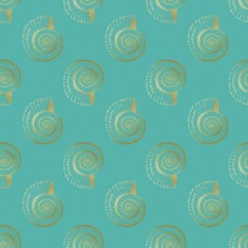 Golden Shell Pattern Poster Print by Ramona Murdock (12 x 12) cd5e735b7bf12f1e1aec69a5cdfa8636