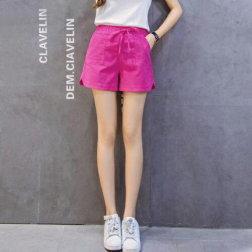 亞麻闊腿棉麻短褲(5色S~3XL)【OREAD】 3