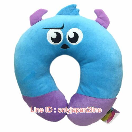 【真愛日本】17012600001造型頸枕-毛怪  迪士尼 怪獸電力公司 怪獸大學 頸枕 枕頭 靠枕 居家用品