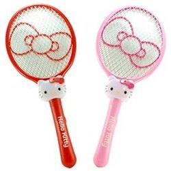 【真愛日本】 電蚊拍-大臉蝴蝶結紅 / 粉  三麗鷗 Hello Kitty 電蚊拍 捕蚊拍 電器