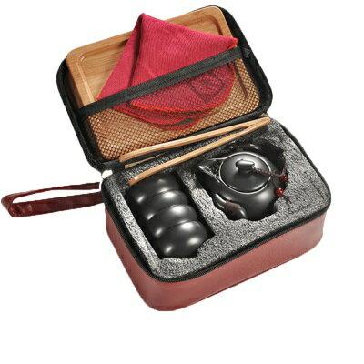 ★旅行茶具組9件組-含茶壺茶杯托盤便攜陶瓷茶具組4色73pp499【獨家進口】【米蘭精品】 1