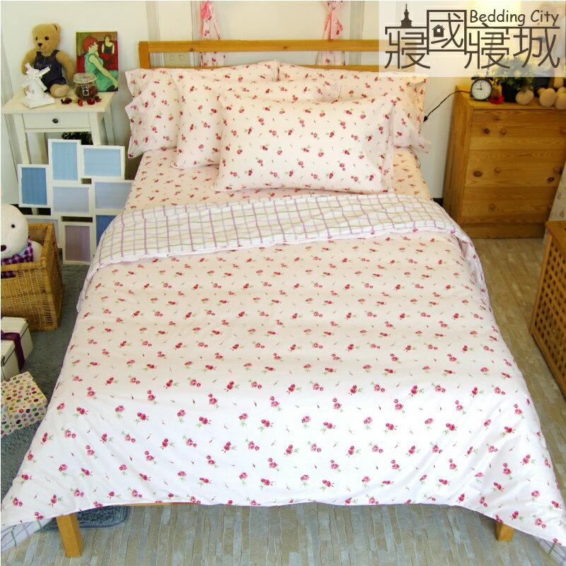 涼被-粉玫瑰 【精梳純棉、吸濕排汗、觸感升級】大鐘印染、台灣製造 # 寢國寢城 3