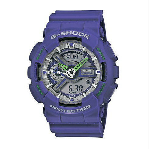 CASIO G-SHOCK GA-110DN-6A質感紫流行腕錶/51mm