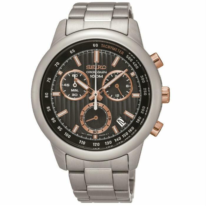大高雄鐘錶城 Seiko 精工錶 CS系列 8T68-00A0P(SSB215P1) 競速度計時腕錶/ 黑面42mm