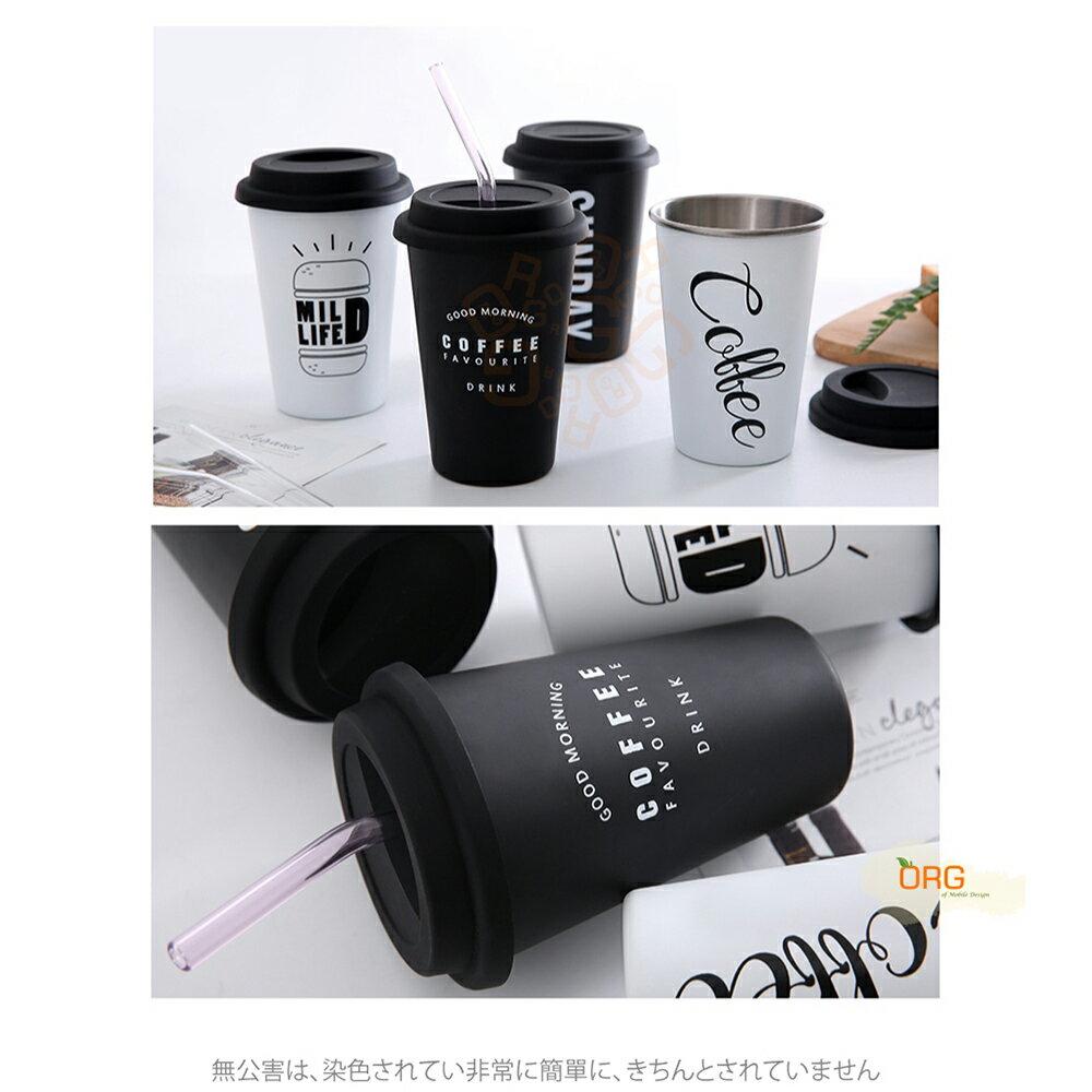 ORG《SD1364》創意~帶蓋 內層304不鏽鋼 咖啡杯 不鏽鋼杯 環保杯 隨身杯 隨手杯 飲料杯 保溫杯 保溫用品 5