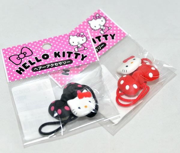 日本版HelloKitty髮圈髮束一個是kitty一個是蝴蝶結