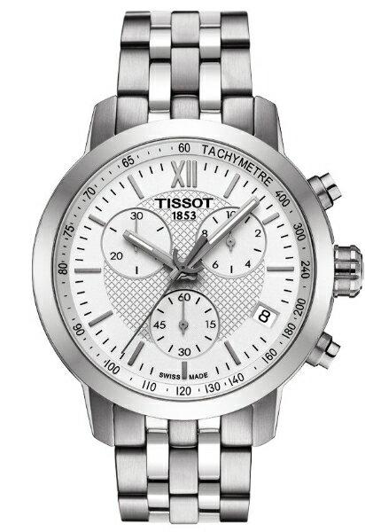 TISSOT天梭T0554171101800 PRC200石英競速計時腕錶/白面42mm