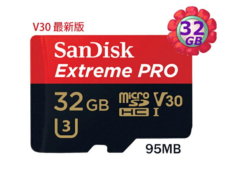 【贈 記憶卡盒】SanDisk 32GB 32G microSDHC【95MB/s】Extreme Pro 633X microSD micro SD SDHC UHS UHS-I 4K U3 Cla..