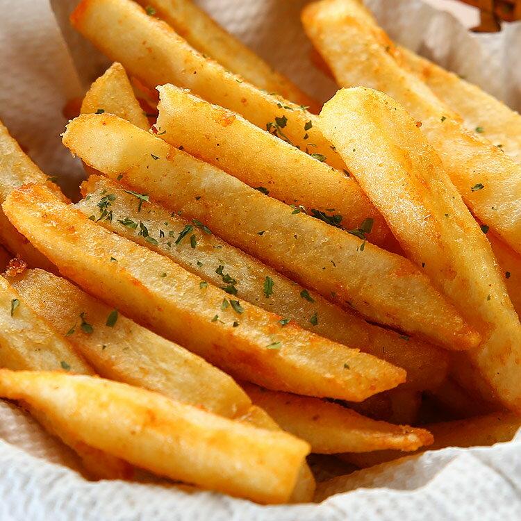 黃金脆漿薯條 150g  份 ~用低油溫讓馬鈴薯外表形成一層脆殼,炸得金黃香酥的薯條配著鹽