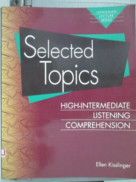 ~書寶 書T6/語言學習_XAP~Selected Topics_Ellen Kissli